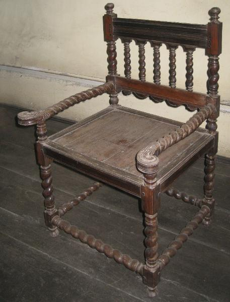 Dutch Colonial Ebony Chair Michael Backman Ltd