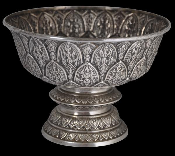 Silver Thai Pedestal Bowl Michael Backman Ltd