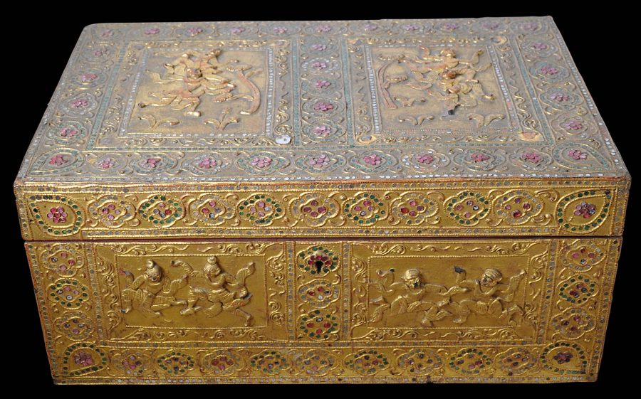 Burmese Gilded Lacquer Amp Wood Storage Box Michael
